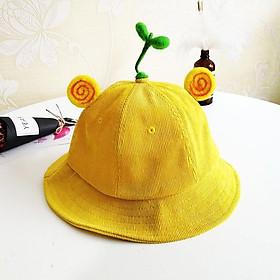 Mũ Nón Maruko 3D Rộng Vành Kiểu Bucket Kaki Nhung