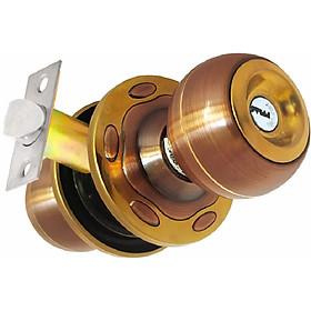 Ổ khóa cửa tay nắm tròn Việt Tiệp 04213 cò dài / cò ngắn, chất liệu inox màu nâu vàng dành cho các loại cửa thông phòng