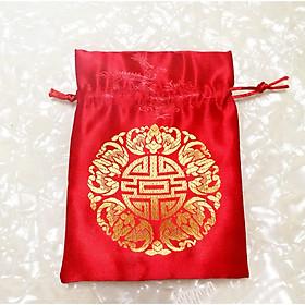 Túi gấm đỏ phong thủy tài lộc và may mắn - PCCB MINGT