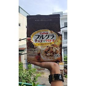 Ngũ cốc Calbee Nhật- Nâu mẫu mới nhất - Chocolate & Chuối 700gr