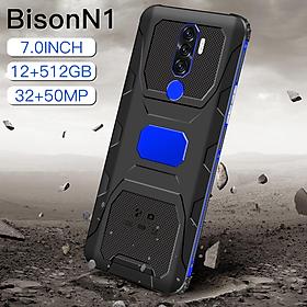 BisonN1 Smartphone phone 7.0 inch handphone 12GB RAM+512GB ROM Android 10.0 mobile phone 10 core16MP+32MP HD 6800mah telefon Phone