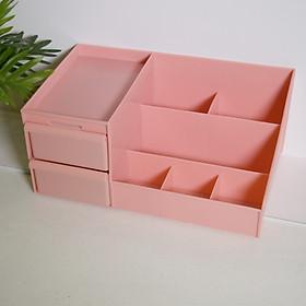 Kệ đựng mỹ phẩm 2 tầng, hộp đựng đồ trang điểm, Trang điểm bằng nhựa cao cấp Size Lớn
