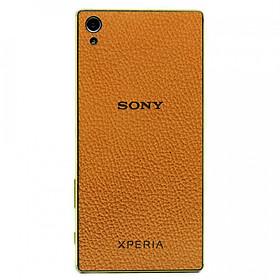 Ốp da dán cho Sony Xperia Z5 Premium - Da thật nhập khẩu cao cấp - Davis (Nâu N2)
