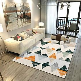 Modern 3D Geometrical Pattern Living Room Bedroom Study Carpet Nonslip Mat