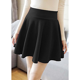 Chân váy xòe ngắn màu đen thời trang, năng động
