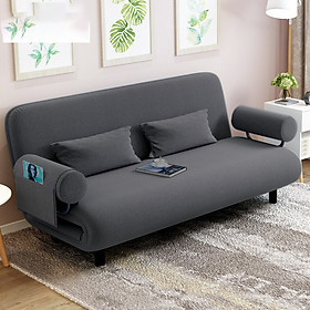 Ghế sofa giường nằm đa năng Kachi MK191 - Màu xám - Tặng kèm 2 gối dựa