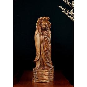 Tượng gỗ mỹ nghệ- Đạt Ma quá hải- gỗ sưa