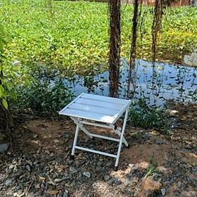 Ghế mini xếp gọn (cao 30 cm, khung thép)