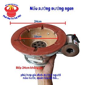 Bếp lẩu nướng than hoa mini tiện dụng có quạt gió Trí Việt đủ kích cở loại phẳng