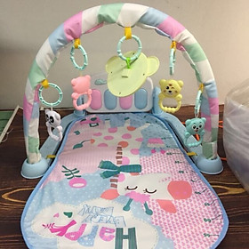 Thảm nhạc cho bé có đàn piano, tặng kèm thước đo chiều cao và dụng cụ tưa lưỡi vệ sinh cho bé