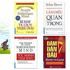 Combo 4 cuốn sách: Sức Mạnh Tiềm Thức, Làm Điều Quan Trọng, Bí Mật Tư Duy Triệu Phú, Dám Dẫn Đầu (kèm bookmark danh ngôn hình voi)