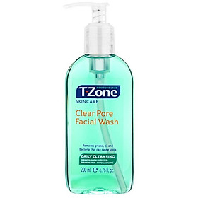 Gel Rửa Mặt Tràm Trà T-Zone Clear Pore Facial Wash 200ml