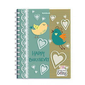 Sổ Lò Xo Notebook Minh Long - Happy Birthday