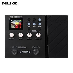 NUX MG-300 Modeling Guitar Processor Guitar Multi-Effects Pedal Amp Modeling 56 Drum Beats 60s 24-bit Loop Recording