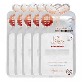 Combo 5 Mặt Nạ chứa tinh chất I.P.I dưỡng trắng da Mediheal I.P.I Lightmax Ampoule Mask Ex 25ml x5
