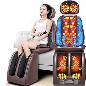 Ghế - Đệm massage thư giãn hồng ngoại toàn thân mẫu full cổ, lưng, bàn chân - DT22