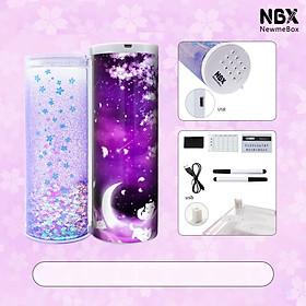 Hộp bút đa năng có mật khẩu NBX loại mới nhất - Khóa điển tử thông minh - Tặng kèm 2 bút viết bảng và thời khóa biểu - Purple Sakura