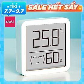 Nhiệt ẩm kế điện tử mini Deli - 8845