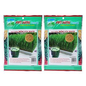 Bộ 2 Gói Hạt Giống Mầm Lúa Mạch Phú Nông (100g / Gói)
