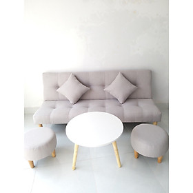 Ghế sofa giường nội thất sofa bed phòng khách SB23- Màu Trắng