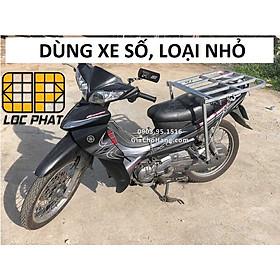 Giá chở hàng XE SỐ 50x56cm - Lộc Phát- baga chở hàng - giachohang.com (wave, jupiter, sirius, exciter...)