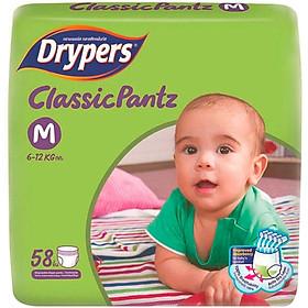 Tã Quần Drypers ClassicPantz Gói Đại M58 (58 Miếng) + Tặng 1 Gói Cùng Loại