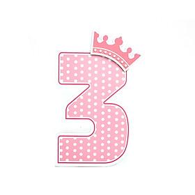 Số Tuổi Trang Trí Sinh Nhật Công Chúa Happy Kibu- 3 Tuổi