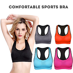 Women Sports Bra Padded Underwired I-Shaped Breathable Qucik Dry Running Yoga Gym Workout Vest-5
