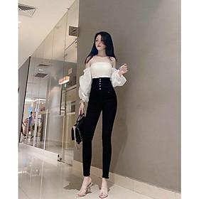 Quần jean nữ Lưng Cao Julido Store, chất jean co dãn 4 chiều ống ôm chân mẫu MH01