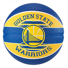 Bóng rổ Spalding Golden State Warriors - Outdoor size 7 (kèm kim bơm bóng và túi lưới đựng bóng Sodex)