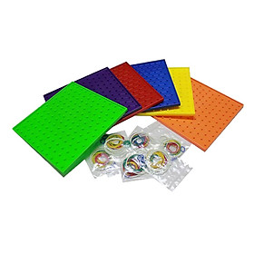 6-Color Threading Plate Creative Plate Kindergarten Educational Toy Age 3+