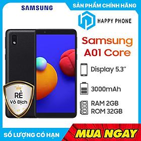 Điện thoại Samsung Galaxy A01 Core (2GB/32GB) - Hàng chính hãng - Đã kích hoạt bảo hành điện tử