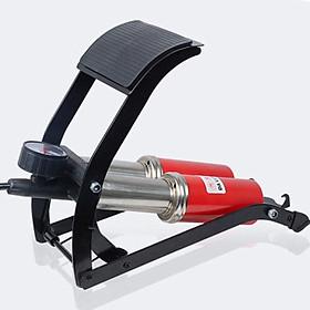 Bơm hơi đạp chân đa năng cho ô tô xe máy loại 1 pitton