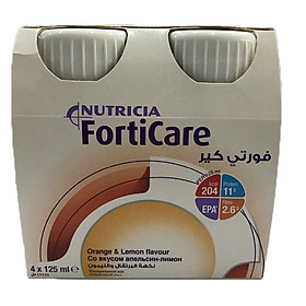 Combo 2 Lốc Sữa Forticare vị cam chanh ( lốc 4 chai)