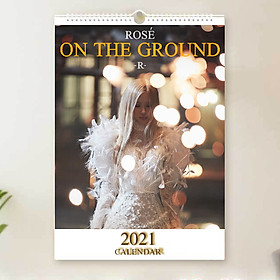 Lịch Rose Blackpink 2021 On the ground lịch treo tường