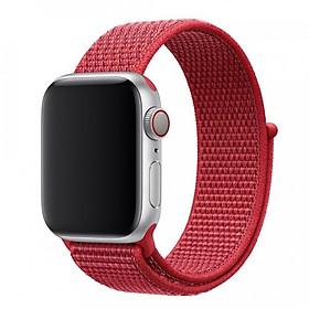 Dây Đeo Cho Apple Watch Nylon Sport Loop Màu Đỏ