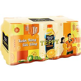 Thùng 24 Chai Nước Cam Teppy (327ml / Chai)
