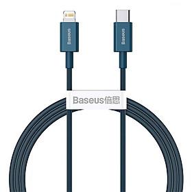 Cáp sạc nhanh siêu bền Type C to Lightning Baseus Superior Series PD 20W cho iPhone 12 / iPhone 11 Series (Type-C to Lightning PD 20W/18W Fast charge & 480Mbps Data, TPE Cable) - Hàng Chính Hãng
