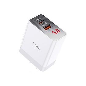 Cốc Sạc nhanh Hoco DC28 Pro 2 USB (1 Cổng USB C PD 18W 1 cổng USB QC3.0) - Hàng nhập khẩu