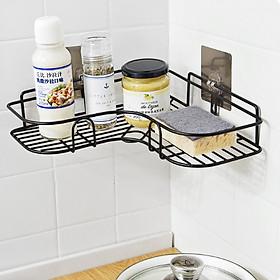 Kệ sắt chữ V chịu lực siêu chắc để đồ dùng phòng tắm gắn góc tường cao cấp