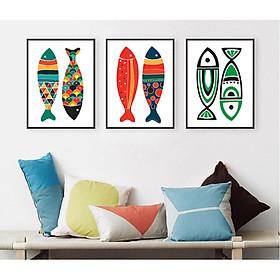 Decal trang trí tường họa tiết cá nghệ thuật Tipo_0266