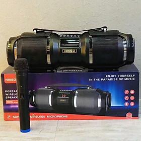 Loa bluetooth karaoke kèm micro KIMISO T1S công suất 60W hỗ trợ USB/TF/AUX/FM - âm thanh siêu to cực hay (Nhiều màu) hàng nhập khẩu