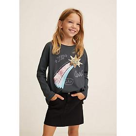 Áo thun tay dài họa tiết hình cho bé gái  MANGO LOLLY- 33023731