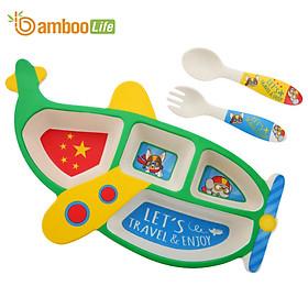 Bộ chén bát ăn dặm cho bé từ sợi tre thiên Bamboo Life BBL07B