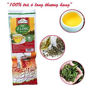 Trà Ô Long thượng hạng 200 gram - Trà olong cao cấp Tân Cương Xanh, trà olong vụ xuân ngon, nước xanh hậu ngọt sâu