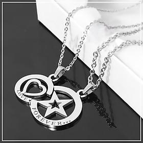 Dây chuyền cặp đôi ngôi sao trái tim-biểu tượng tình yêu hy vọng