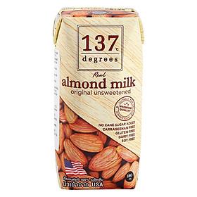 [Chỉ Giao HCM] - Sữa hạt hạnh nhân không đường 137 - hộp 180ml