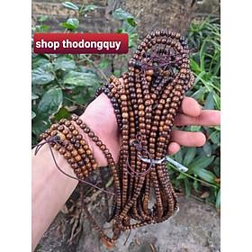 Chuỗi hạt 108 cỡ 5ly vòng tay hoặc đeo cổ nữ gỗ muồng mân vân đẹp
