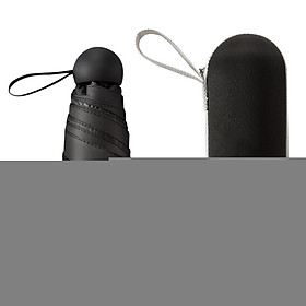 Five Folds Capsule Sun Umbrella Sunscreen Anti-Uv Portable Pocket Rain Umbrella