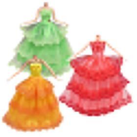 Hình đại diện sản phẩm 3Pcs Fashion Doll Clothes Formal Gown Wedding Party Full Dresses for Barbie Doll